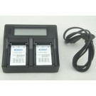 Carregador duplo Digital para baterias Topcon/Sokkia